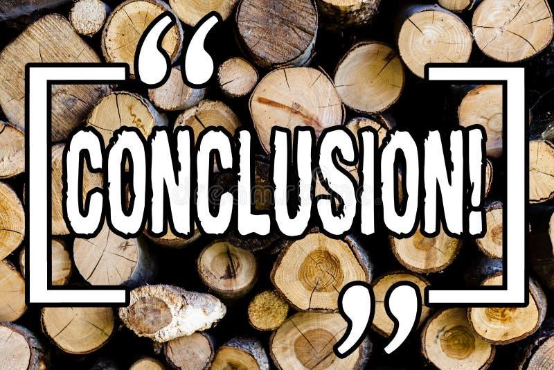 Słowa writing teksta wniosek Biznesowy pojęcie dla Kończyć kondygnację z inspiracyjnych wycen tła rocznika Drewnianym drewnem dzi zdjęcia stock