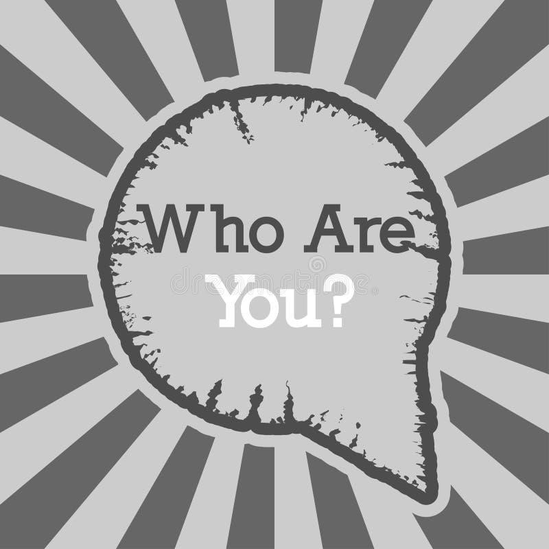 Słowo, pisze Co jest tobą? Wektorowy ilustracyjny pojęcie dla Ja Lub Ciebie Wokoło ilustracja wektor