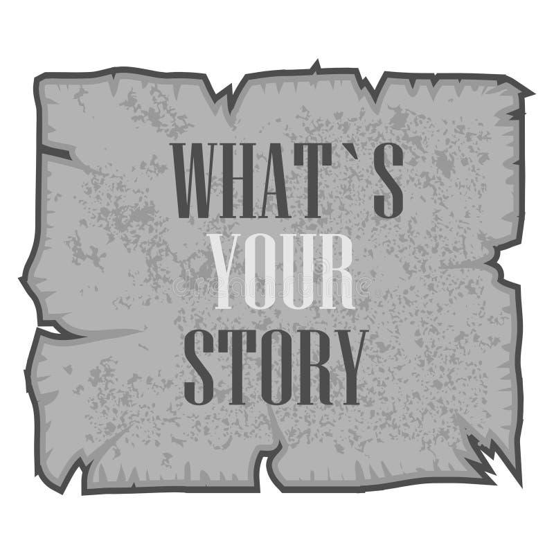 Słowo, pisze CZYM jest TWÓJ opowieścią Wektorowy ilustracyjny pojęcie dla mówić osobistych uprzednie doświadczenia ilustracji
