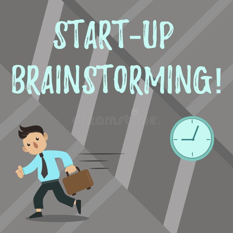 Słowo pisze tekscie Zaczyna W górę Brainstorming Biznesowy pojęcie dla Drużynowej pracy dla robić strategiom nowy biznes ilustracja wektor