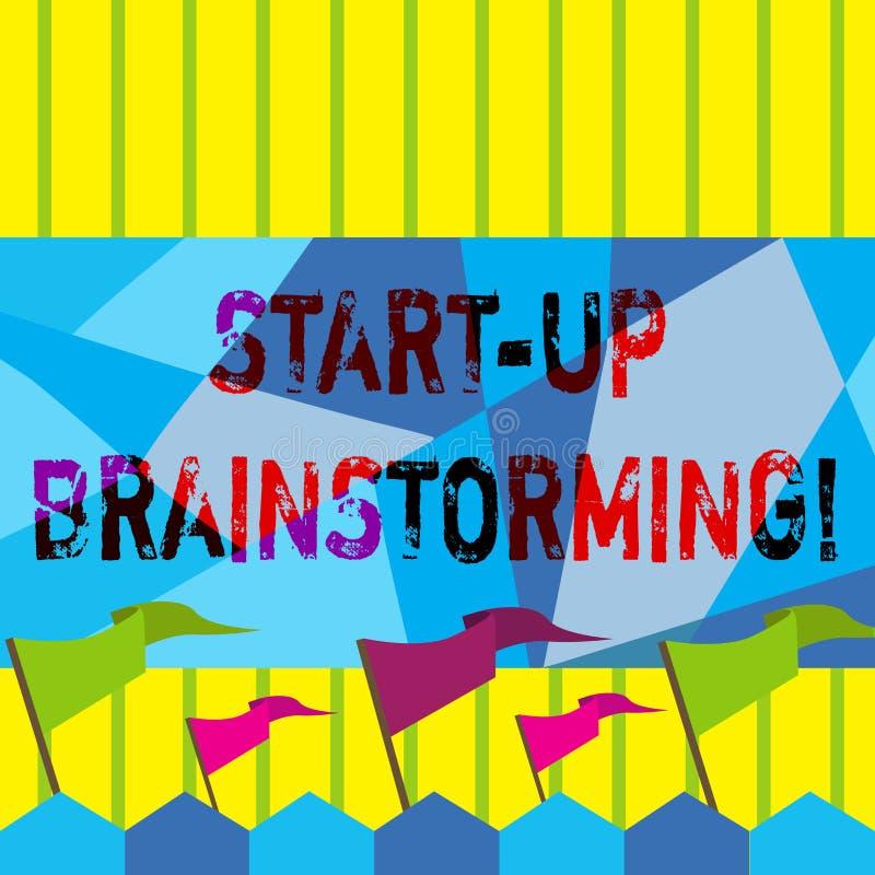 Słowo pisze tekscie Zaczyna W górę Brainstorming Biznesowy pojęcie dla Drużynowej pracy dla robić strategiom nowy biznes ilustracji
