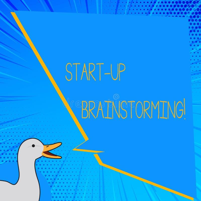 Słowo pisze tekscie Zaczyna W górę Brainstorming Biznesowy pojęcie dla Drużynowej pracy dla robić strategiom nowy biznes royalty ilustracja