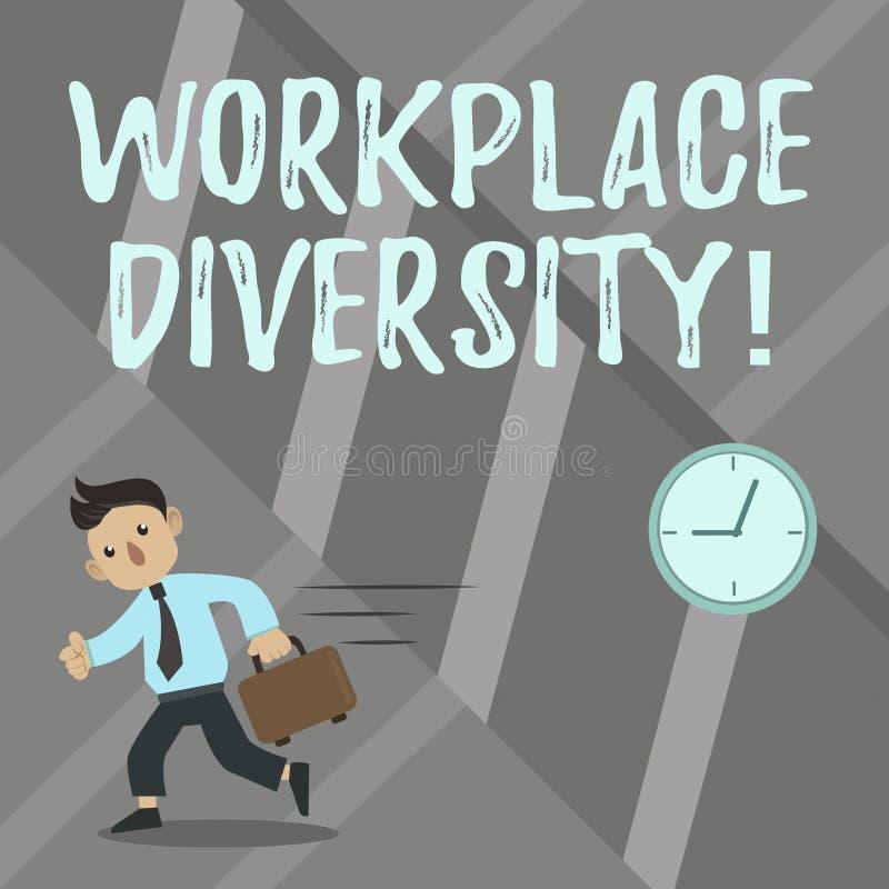 Słowo pisze tekst miejsce pracy różnorodności Biznesowy pojęcie dla Różnej biegowej rodzaju wieka orientacji seksualnej pracownic royalty ilustracja