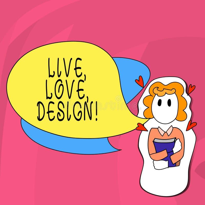 Słowo pisze tekstowi Żywym miłość projekcie Biznesowy pojęcie dla Istniałam czułości Tworzy Pasyjnego pragnienie royalty ilustracja