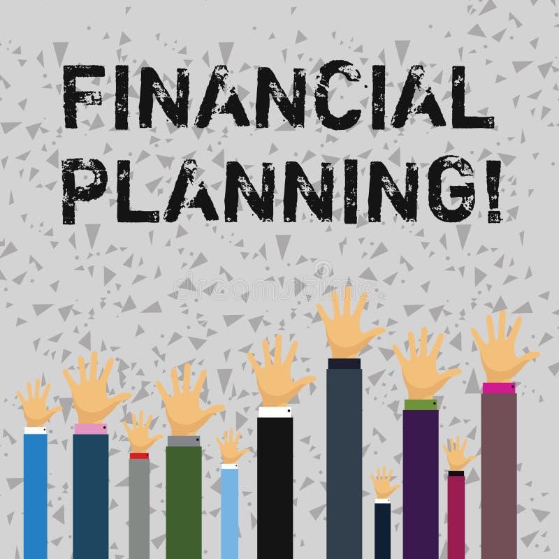 Słowo pisze tekstowi Pieniężnym planowaniu Biznesowy pojęcie dla Rozliczać Planistyczną strategię Analizuje royalty ilustracja