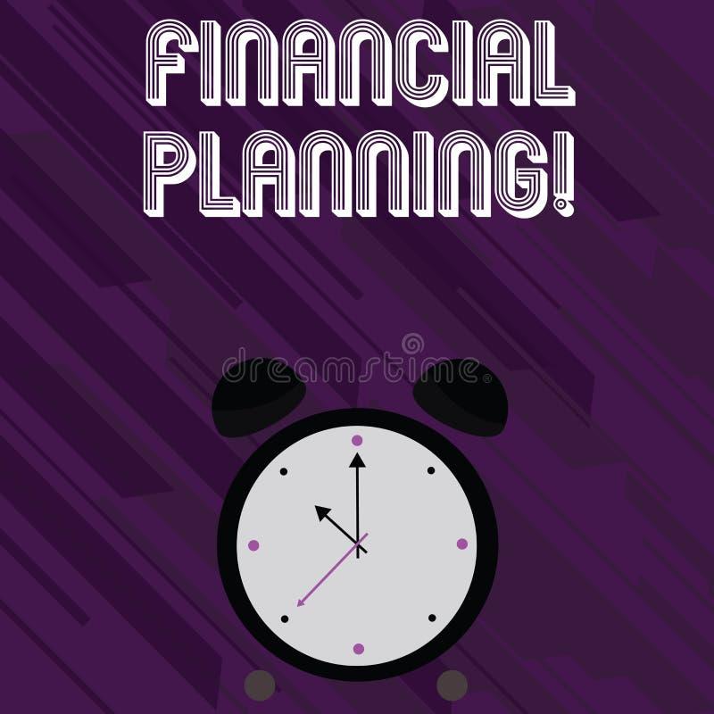 Słowo pisze tekstowi Pieniężnym planowaniu Biznesowy pojęcie dla Rozliczać Planistyczną strategię Analizuje ilustracja wektor