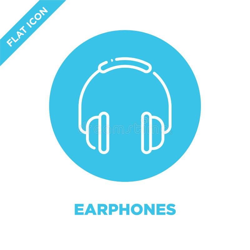 Słuchawki ikony wektor Cienka kreskowa słuchawka konturu ikony wektoru ilustracja słuchawka symbol dla używa na sieci i wiszącej  royalty ilustracja