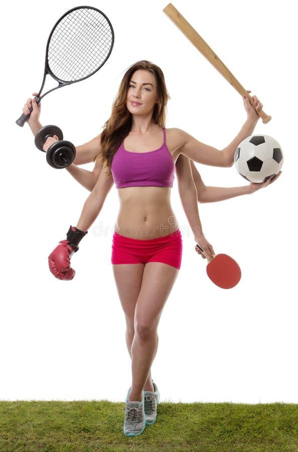 Så många sport som ska väljas från royaltyfria bilder