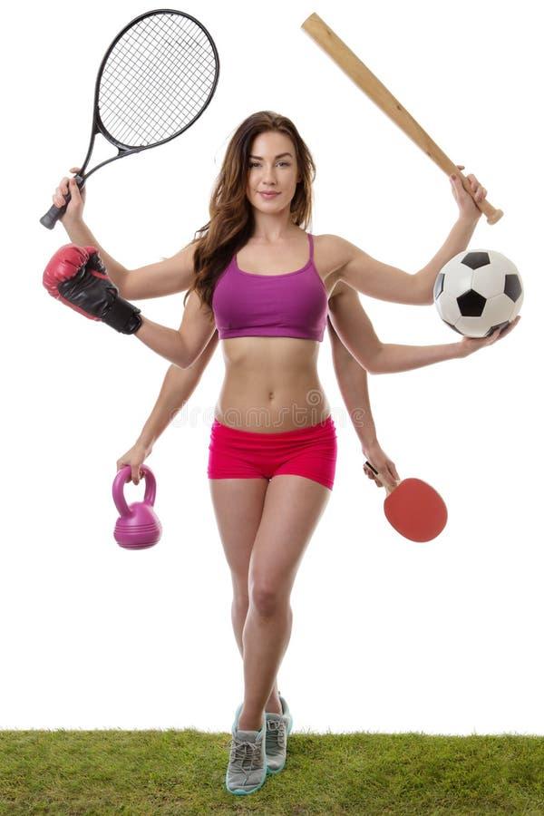 Så många sport som ska väljas från royaltyfri fotografi