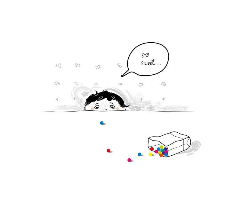 Så sött! stock illustrationer