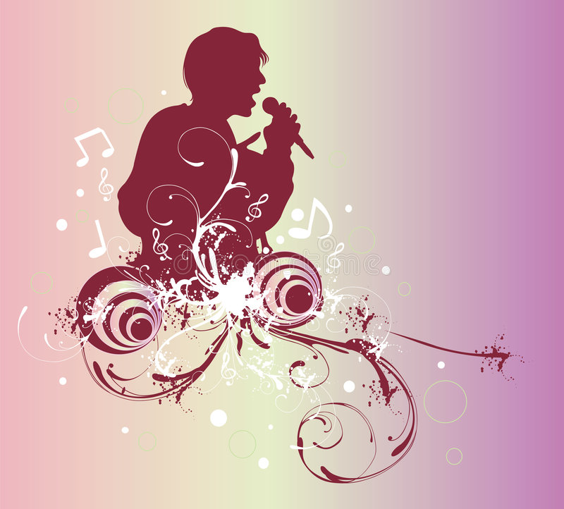sångare royaltyfri illustrationer