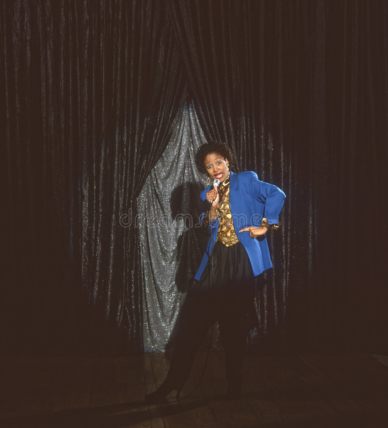 sångare för afrikansk amerikankomediförfattareunderhållare arkivfoton