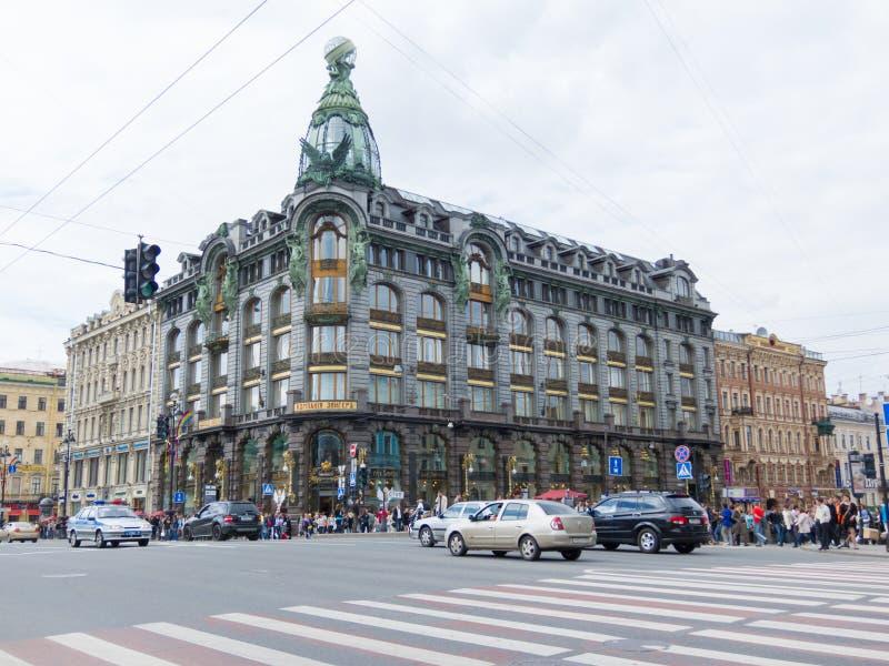 Sångare House (huset av böcker), St Petersburg royaltyfri fotografi