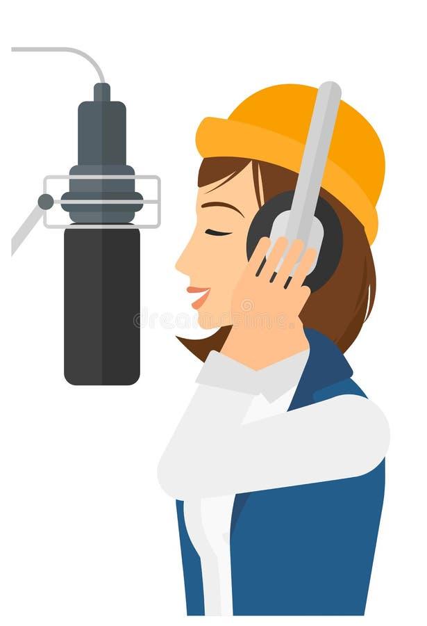 Sångaredananderekord stock illustrationer