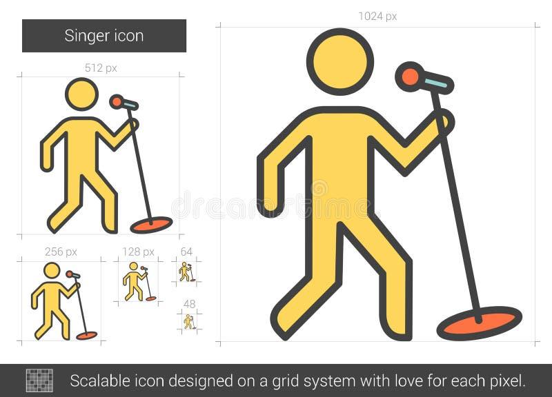 Sångarelinje symbol stock illustrationer
