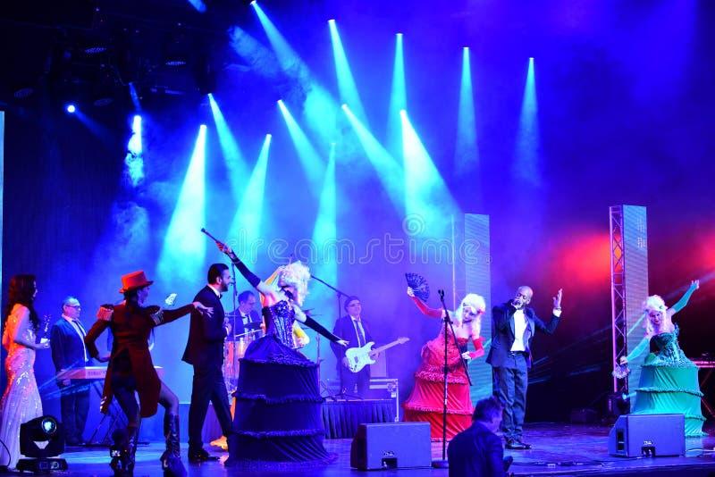 Sångaren Willi William som utför på etapp under den stora Apple musiken, tilldelar konsert 2016 royaltyfri foto