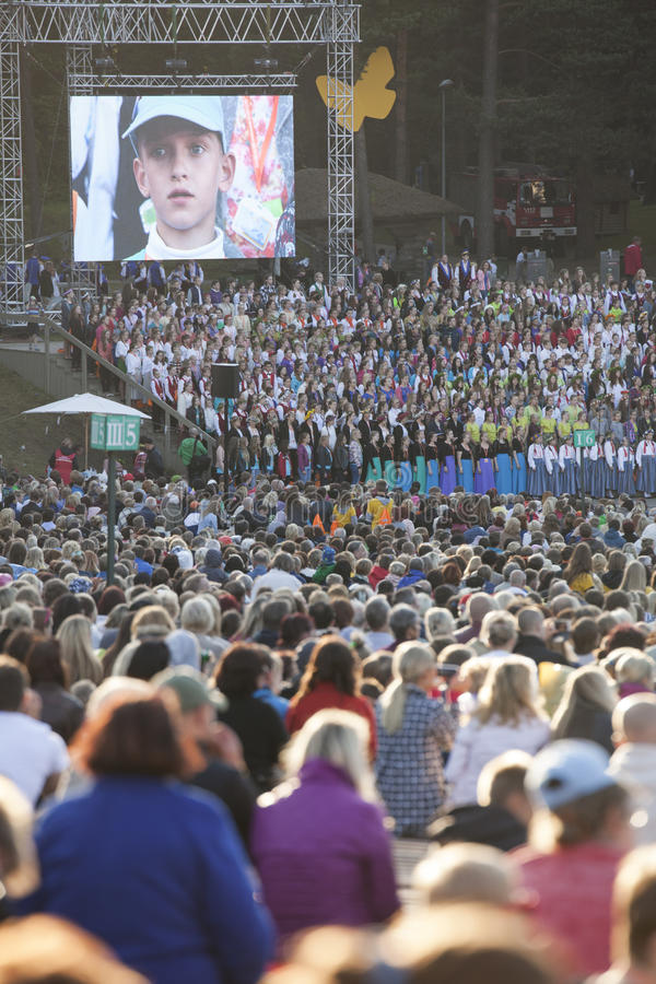 Sångfestival Riga latvia royaltyfri bild