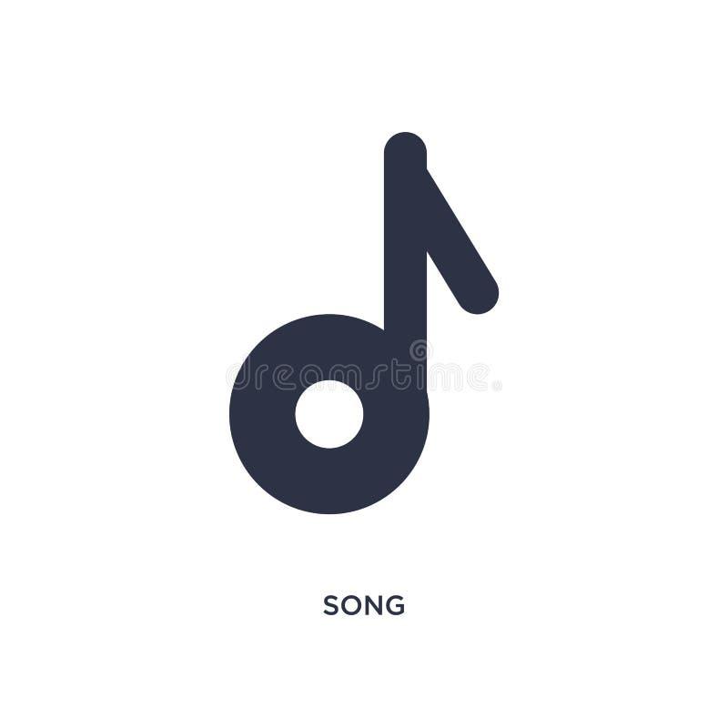 sångsymbol på vit bakgrund Enkel beståndsdelillustration från litteraturbegrepp vektor illustrationer