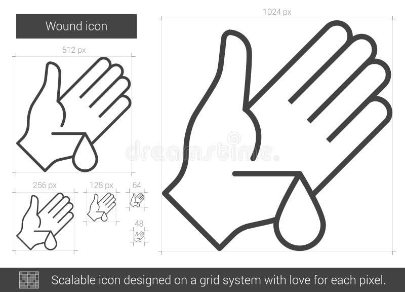 Sårlinje symbol vektor illustrationer