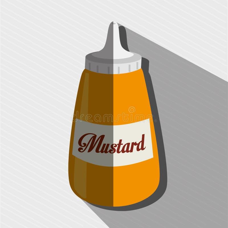 såsflaskdesign stock illustrationer