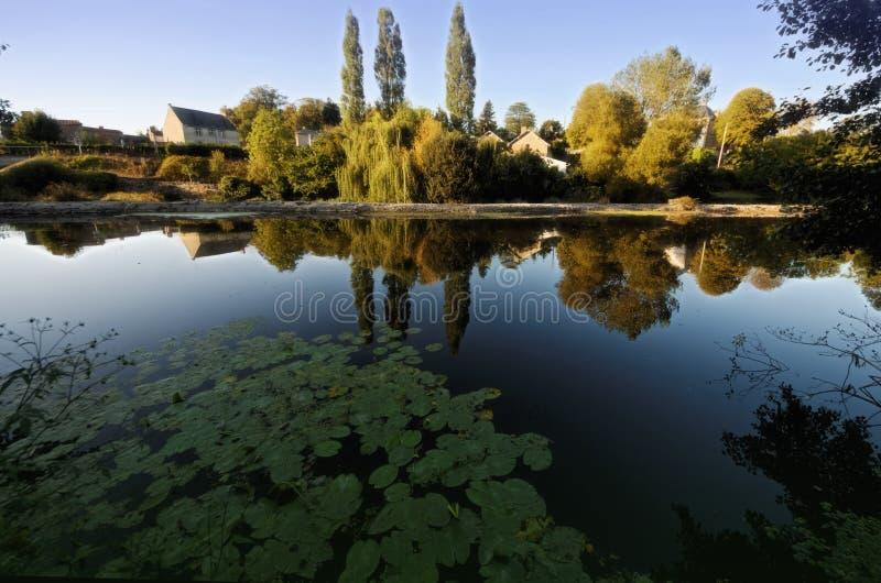 River Sevre in Tiffauges royalty free stock images