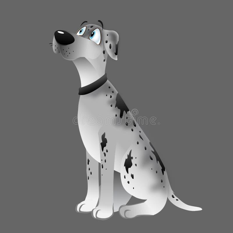 Séance blanche de great dane de chien illustration stock
