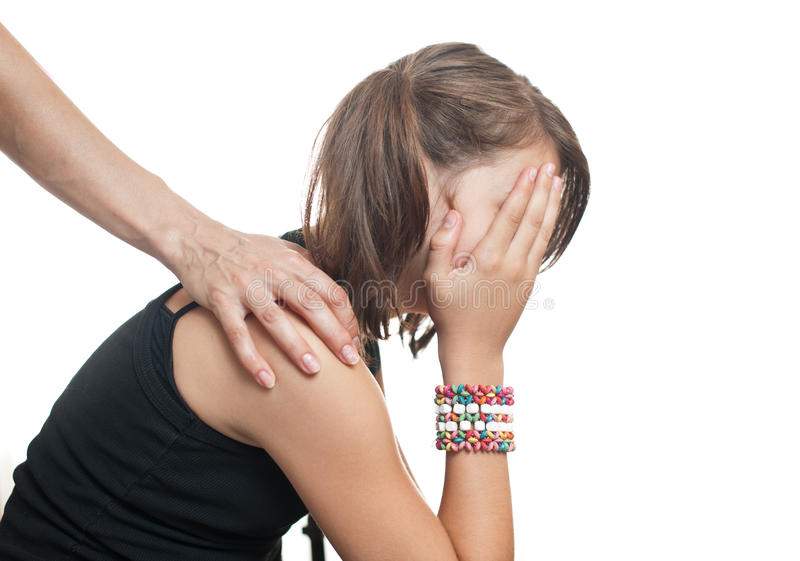 Séance déprimée d'adolescent image libre de droits