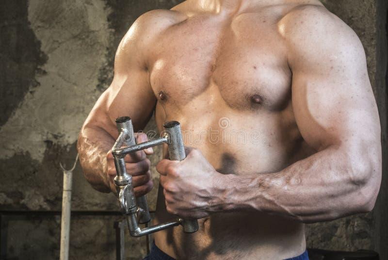 Séance d'entraînement de corps de Fittnes musculaire image stock