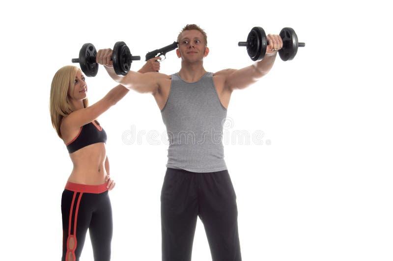 Séance d'entraînement motivée photos stock