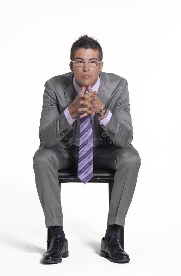 Séance d'homme d'affaires. image stock