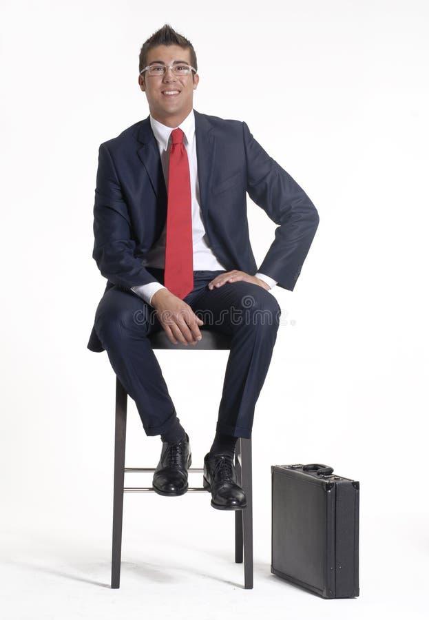 Séance d'homme d'affaires. image libre de droits