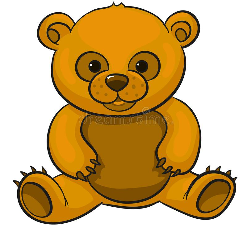 Séance d'ours de nounours illustration de vecteur