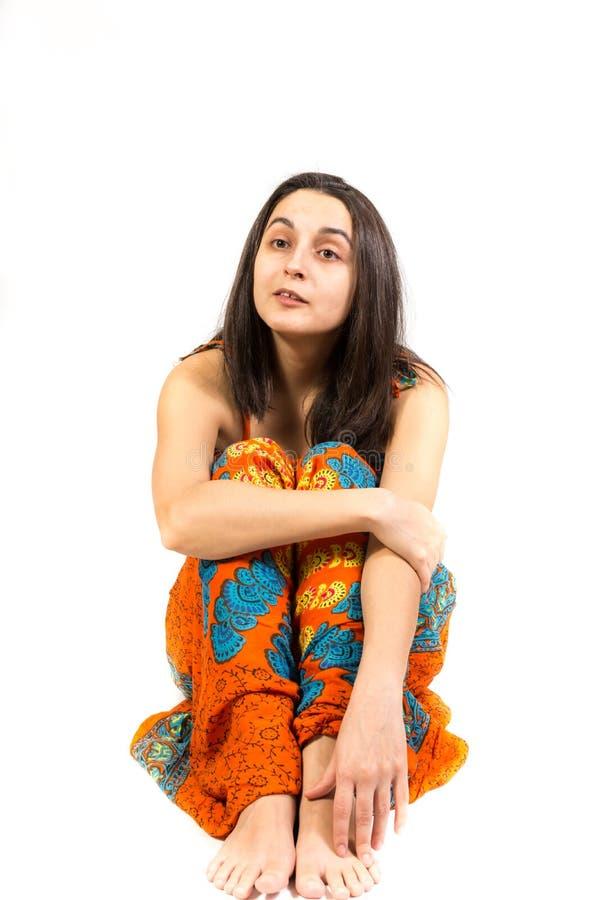 Séance de femme d'isolement photos libres de droits