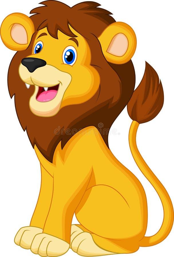 Séance de Lion Cartoon illustration stock