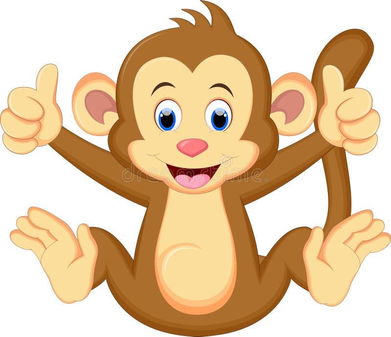 Séance drôle de bande dessinée de singe illustration de vecteur