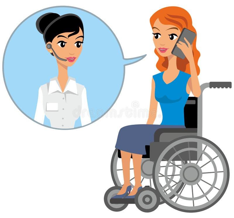 séance handicapée de fille illustration stock