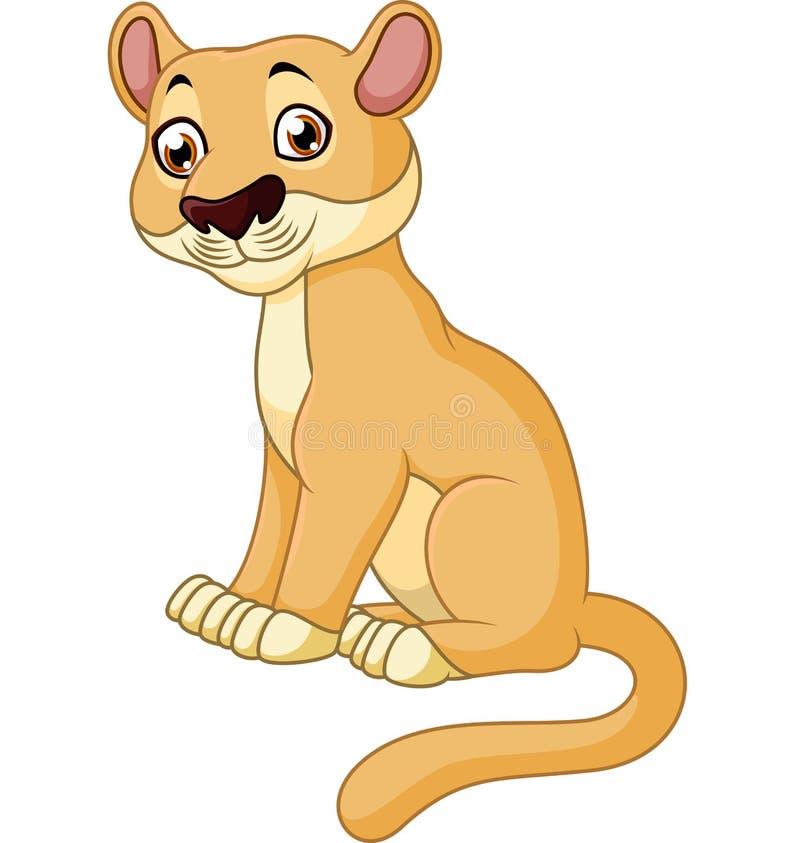 Séance mignonne de lion illustration libre de droits