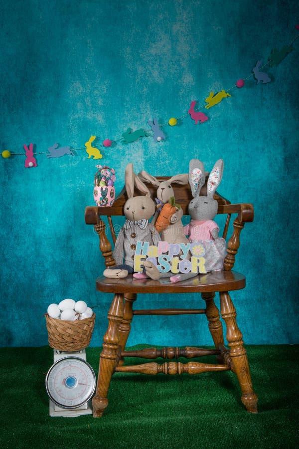 Séance photo de RP de fond de Pâques mini image libre de droits