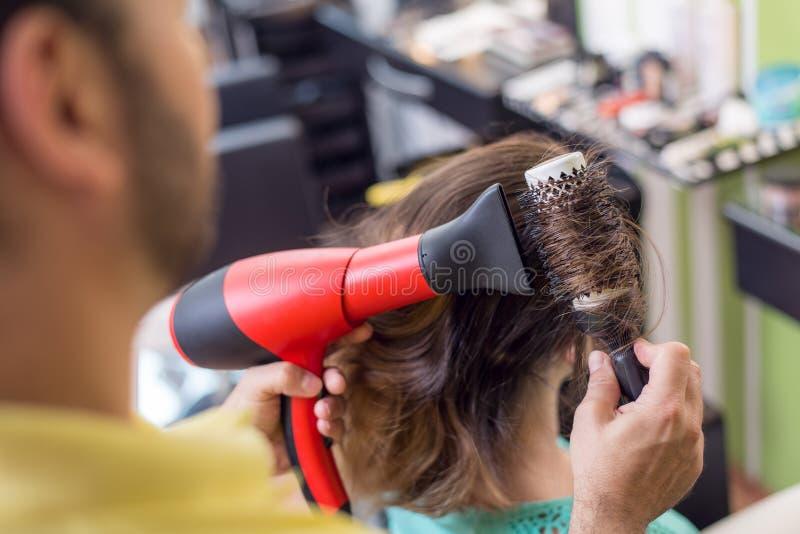 Séchage de cheveux photos stock