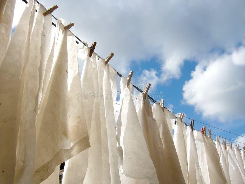 Séchage de couches-culottes   photos stock