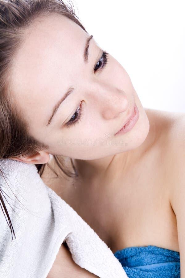 Séchage De Son Cheveu Images stock