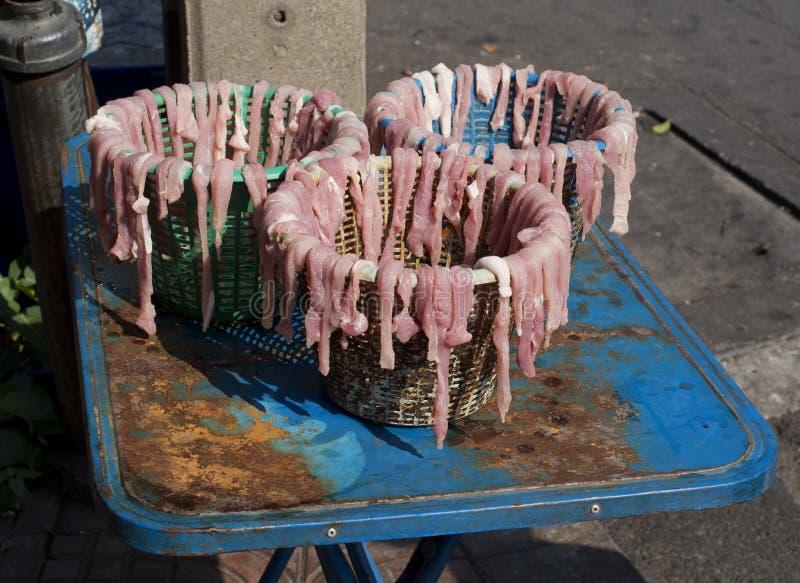 Séchage de viande à vendre image libre de droits