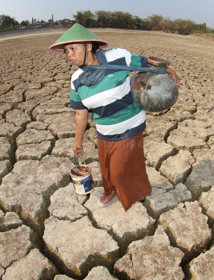 Sécheresse en Indonésie photo libre de droits