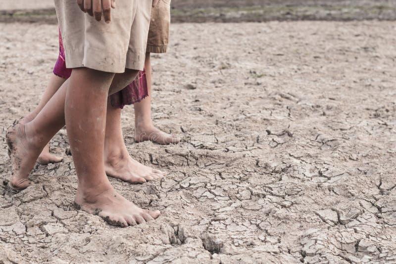 Sécheresse provoquée par le manque d'eau images stock