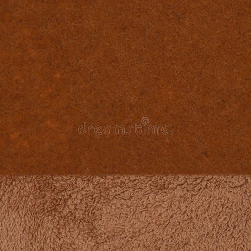 Sécherpa texturé brun et toile de fond en tissu feutre photographie stock libre de droits