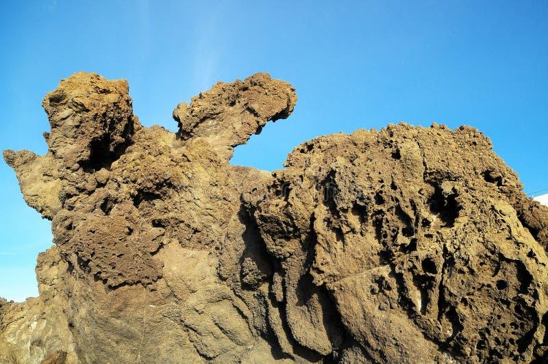 Séchez Lava Rocks durci photo stock