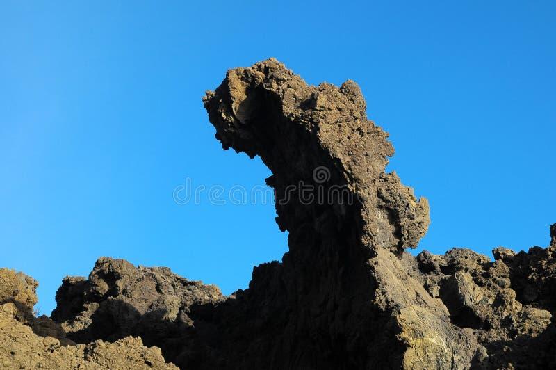 Séchez Lava Rocks durci photographie stock libre de droits