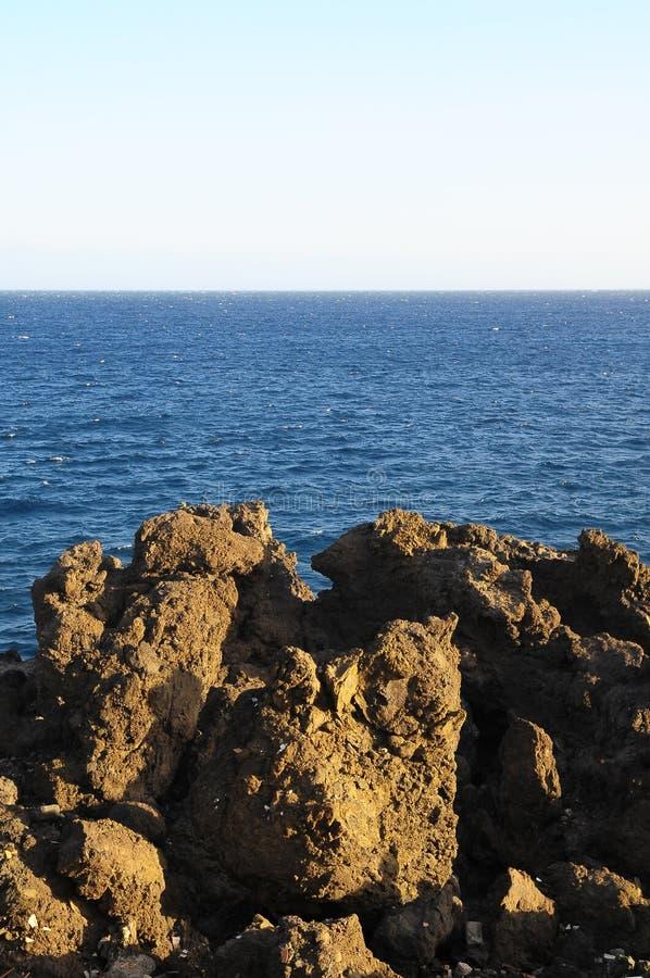 Séchez Lava Rocks durci photos stock