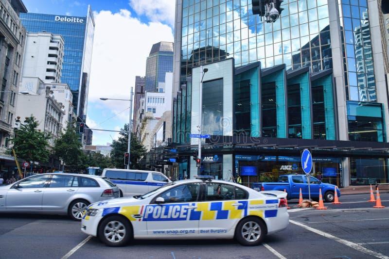 Sécurité Auckland Nouvelle-Zélande de voiture de police de sécurité photographie stock libre de droits