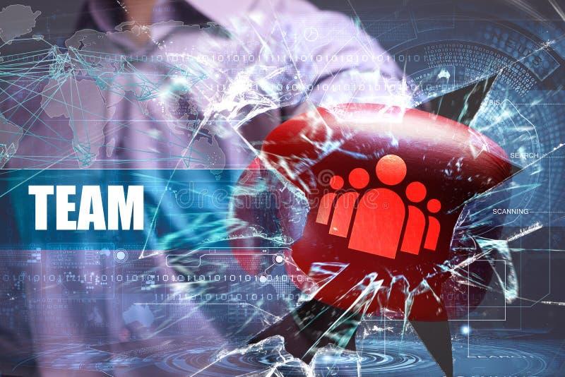 Sécurité d'affaires, de technologie, d'Internet et de réseau photographie stock libre de droits